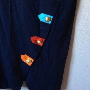 Vintage Dresses - Postman Gold Button POD Rainbow Flag Dress Vintage